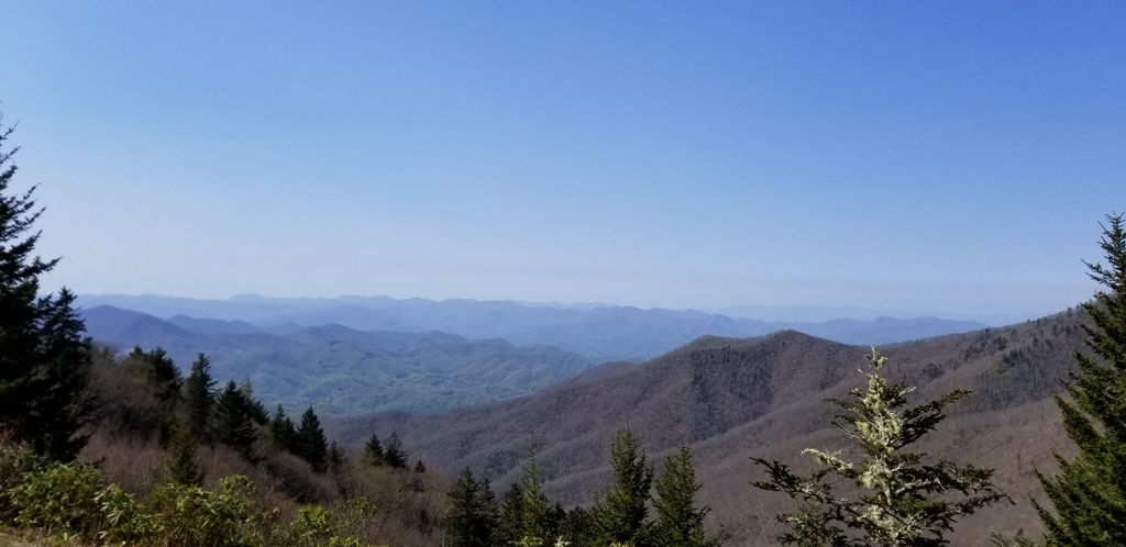 View along the Blue Ridge Parkway