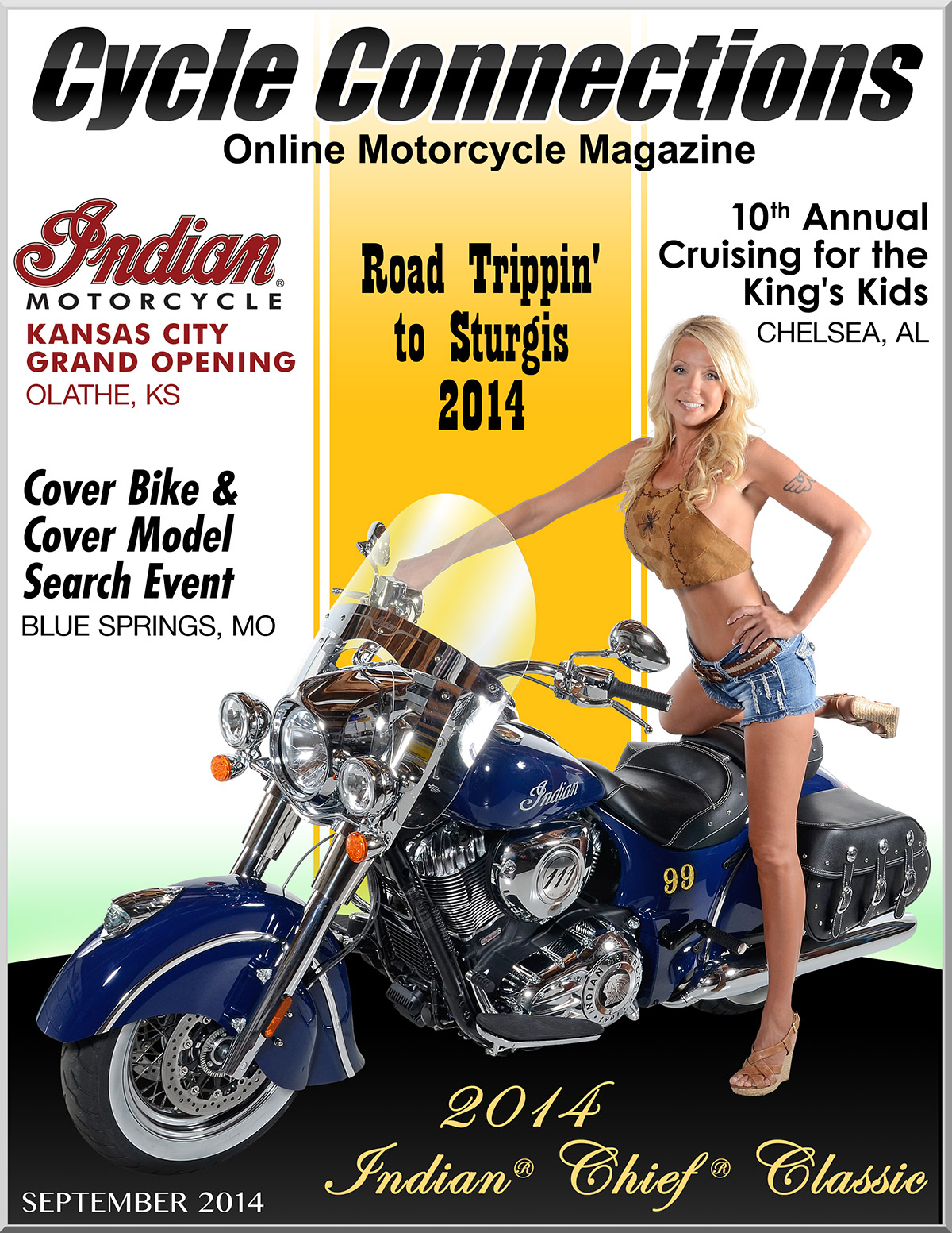 2014 Indian Chief Classic & Cover Model Alicia