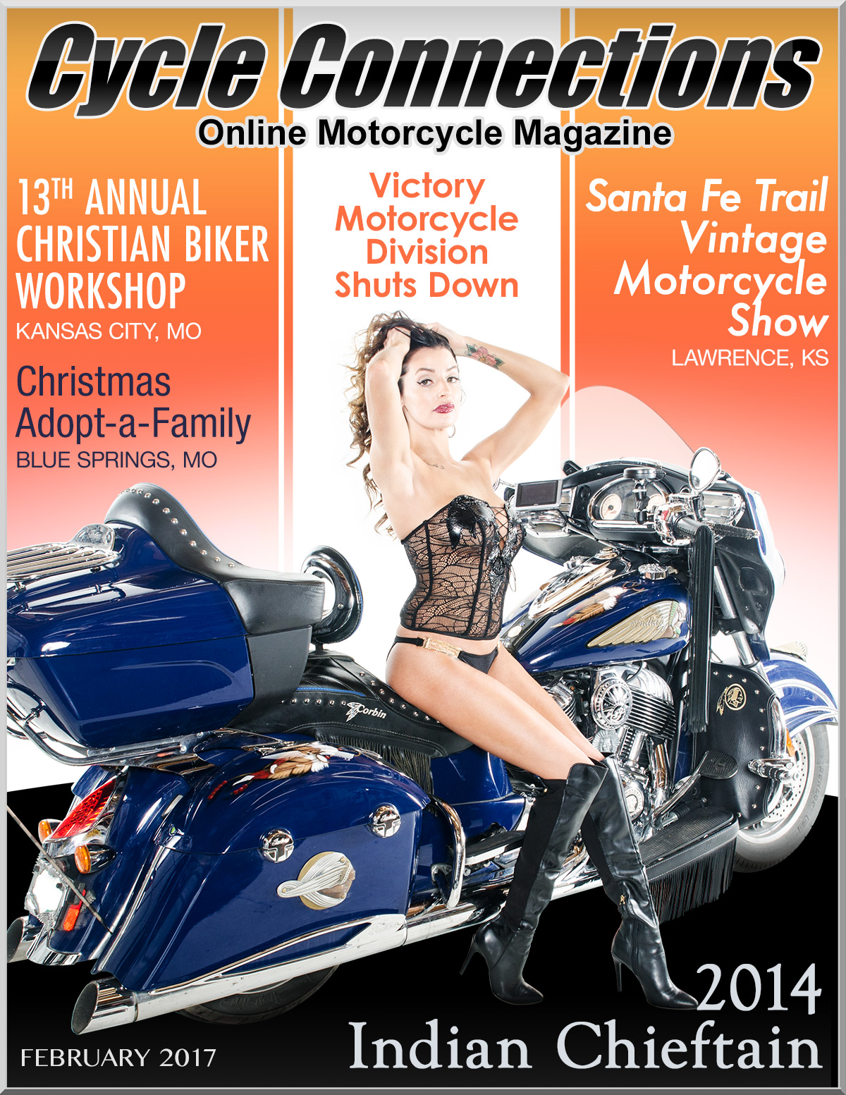 2014 Indian Chieftain and Cover Model Jessica