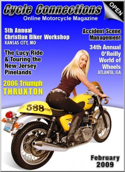 2006 Triumph Thruxton & Cover Model Carrie