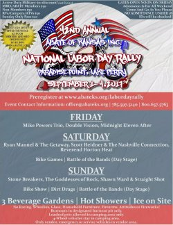42nd Annual ABATE of Kansas National Labor Day Bike Rally - Perry, Kansas