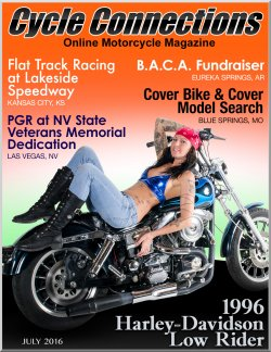1996 Harley-Davidson Low Rider and Cover Model Mandy