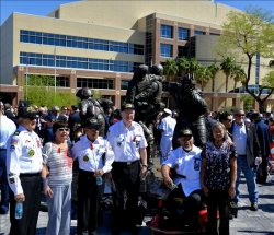 Patriot Guard Riders Mission at Nevada State Veterans Memorial Dedication – Las Vegas, Nevada