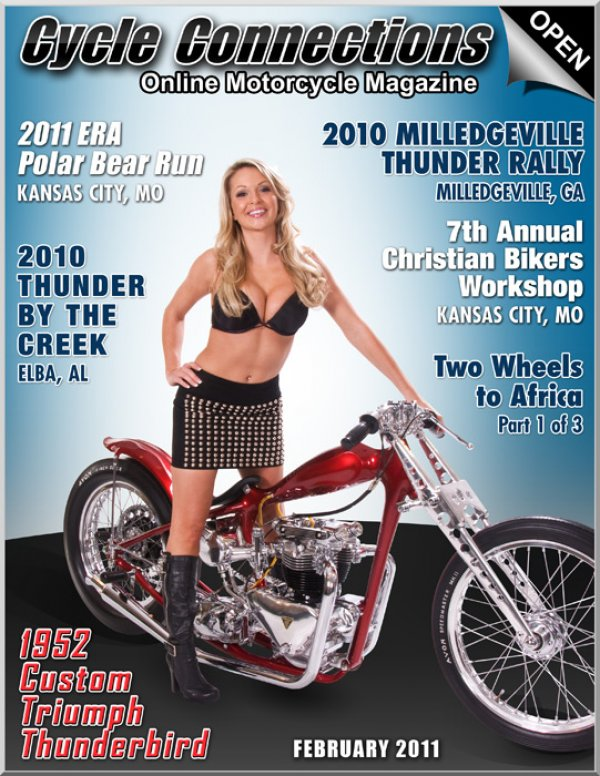 1952 Custom Triumph Thunderbird & Cover Model Chanel