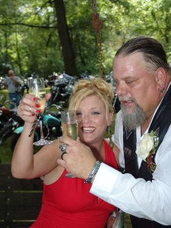 Big Skinny & Karen's Biker Wedding
