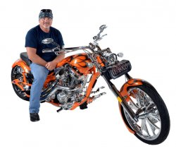 Rich Aubrey Jr. & His 2008 Big Bear Chopper Sled Pro-Street