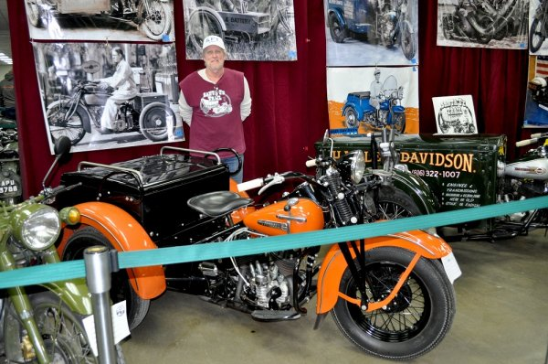 Dale Miller and his 1949 Harley Servi-Car
