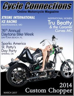 2014 Custom Chopper and Cover Model Rebekah
