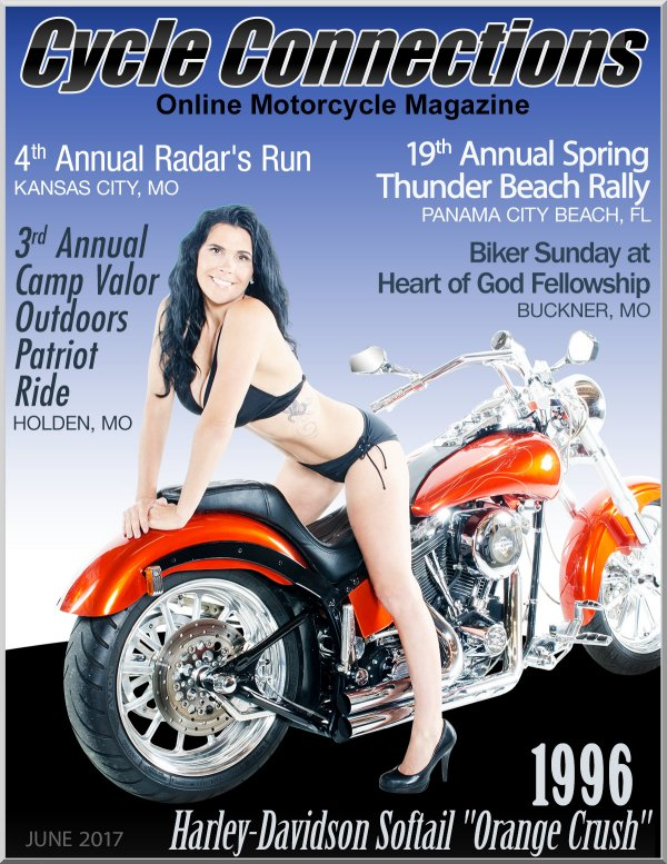 1996 Harley-Davidson Softail and Cover Model Angela
