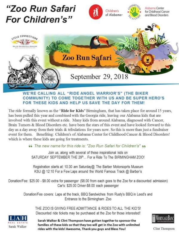 Zoo Run Safari For Children's of Alabama
