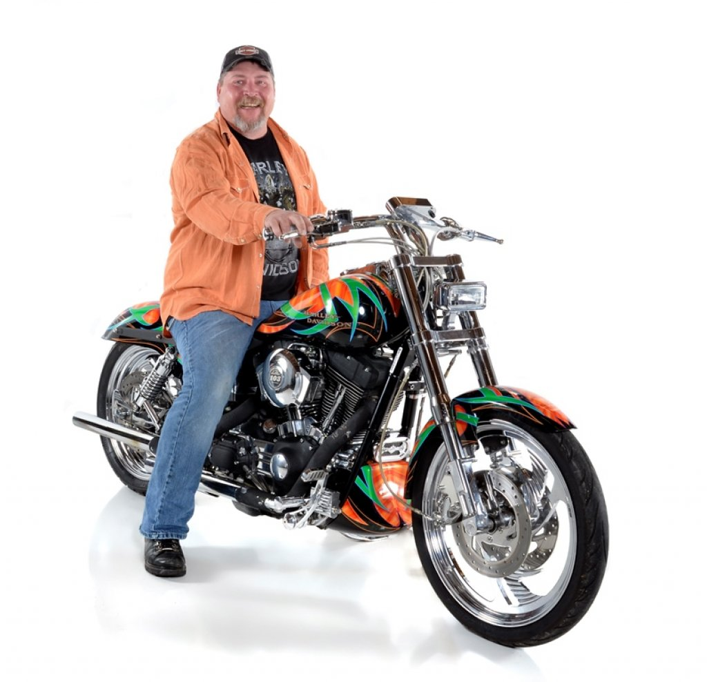 Alan Fletcher & His 2001 Harley-Davidson  Super Glide