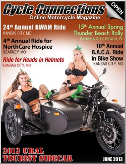 2012 Ural Tourist Sidecar & Cover Models Brookelyn & Caitlin