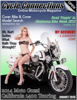 2014 Moto Guzzi California 1400 Touring & Cover Model Kathleen