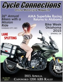 2015 Aprilia Caponord 1200 ABS Rally & Cover Model Stephanie