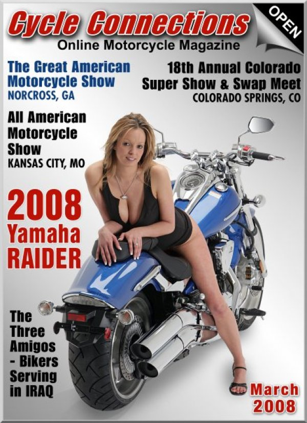 2008 Yamaha Raider & Cover Model Vicky