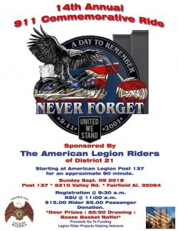 14th Annual 911 Commemorative Ride-Alabama