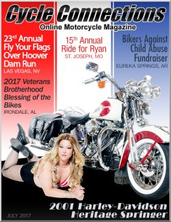 2001 Harley-Davidson Heritage Springer and Cover Model Christina