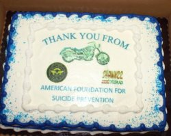 AFSP Certificate of Appreciation Presentation 2015