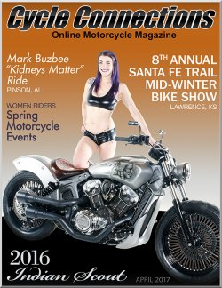 2016 Indian Scout and Cover Model Amanda