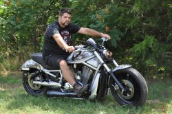 Clint Loveland and his 2005 V-Rod Soul Keeper