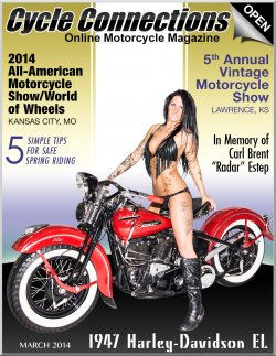 1947 Harley-Davidson EL & Cover Model Mandy