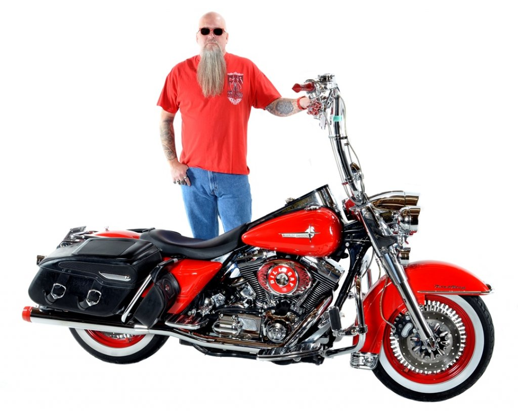 Tattoo & His 2003 Harley-Davidson Road King Classic