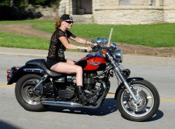 Angie Beck Smith and Her 2003 Triumph Speedmaster